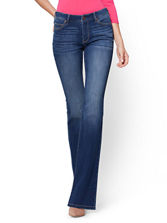 fd51ef30491 NY&C: Curvy Bootcut Jeans - Force Blue - Soho Jeans