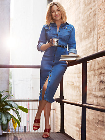 Denim Shirtdress by New York & Company