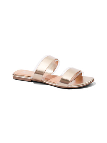 Double Strap Slide Sandal by New York & Company