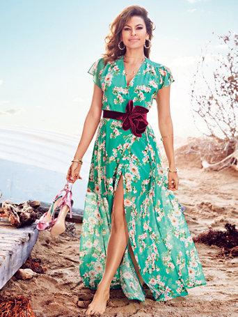 Eva Mendes Collection - Allison Maxi Dress - Green Floral