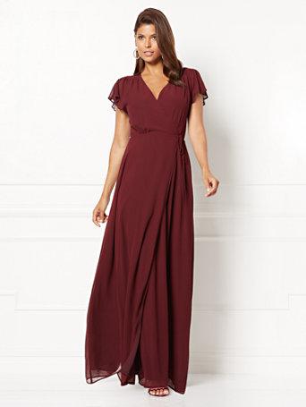 Nyc Eva Mendes Collection Allison Wrap Dress