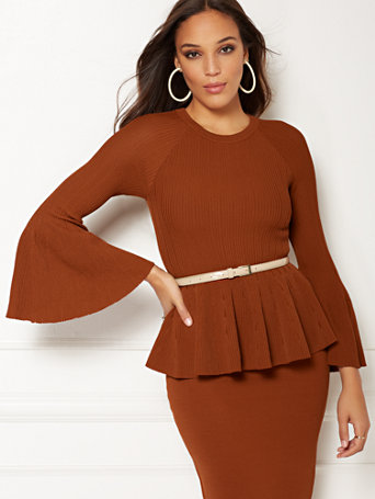 Eva Mendes Collection   Bailey Bell Sleeve Sweater by New York & Company