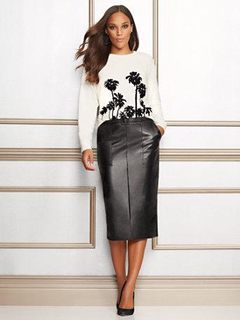 Eva Mendes Collection   Black Glenda Pencil Skirt by New York & Company