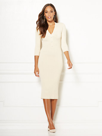 Eva Mendes Collection   Cherelle Sweater Dress by New York & Company