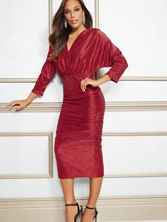 Eva Mendes Collection   Farah Metallic Midi Dress by New York & Company
