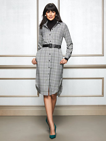 Eva Mendes Collection   Lynda Shirtdress by New York & Company