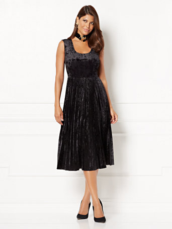 Nyc Eva Mendes Collection Pleated Crushed Velvet Dress