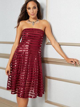 Sequin Strapless Dress