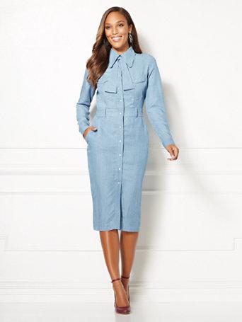 Eva Mendes Collection   Tall Kiera Shirtdress by New York & Company