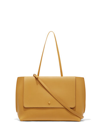 Eva Mendes Collection   Yellow Crossbody Bag by New York & Company