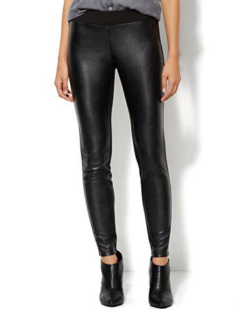 dc8041e800a0b NY&C: Faux-Leather Front Legging- Soho Jeans
