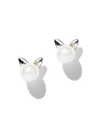 Faux-Pearl Silvertone Post Earring Lustrous faux pearls and a polished silvertone setting upgrade our simple-yet-sophisticated drop earrings.   **Overview**  >> Post backing. >> Earring drop: 1 inch. >> Mixed metal, acrylic. >> Imported.