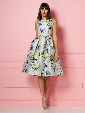 Ny Amp C Felicity Fit And Flare Dress Eva Mendes Party