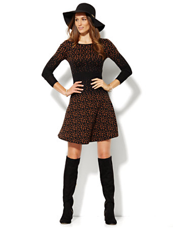 Dress Ny Flare Sweater Polka amp;cFitamp; Dot tsQrhd