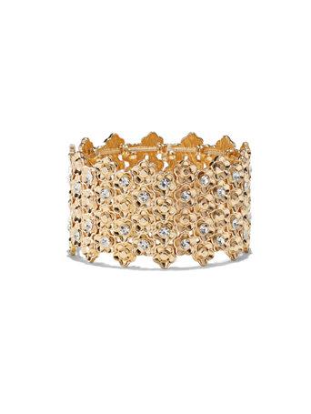 Floral Stretch Cuff Bracelet