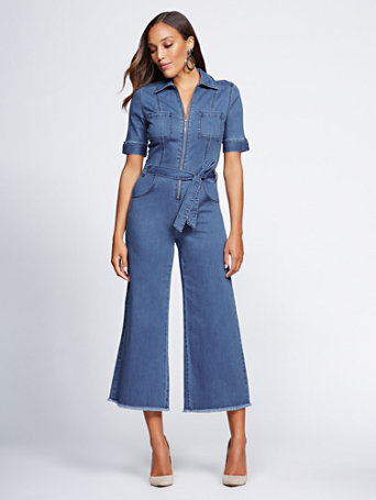 Gabrielle Union Collection   Denim Jumpsuit by New York & Company