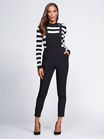 Gabrielle Union Collection   Tall Black Overall by New York & Company