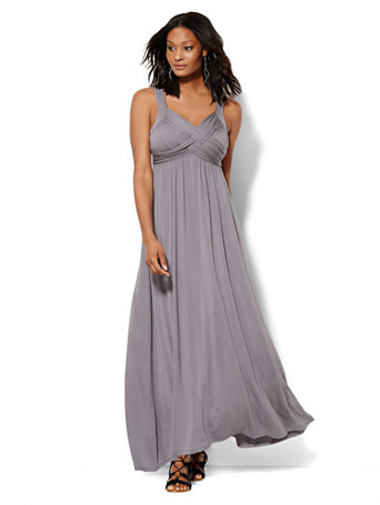 Ny C Goddess Crossover Maxi Dress