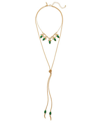 Goldtone Lariat Necklace