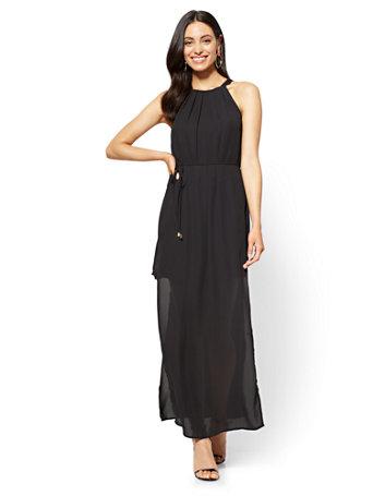 Nyc Halter Maxi Dress Black