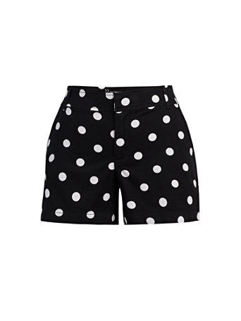 NY&Co Women's Hampton 4-Inch Short - Dot-Print Black