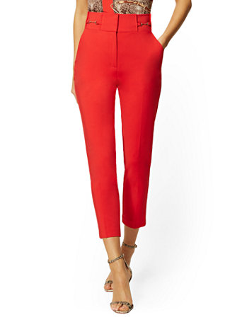 232d85f70b2138 NEW YORK & COMPANY. HARDWARE-ACCENT ANKLE PANT - ALL-SEASON STRETCH - 7TH  AVENUE