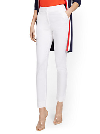 NY&Co Women's High-Waisted Ankle Pants - Modern - 7th Avenue White