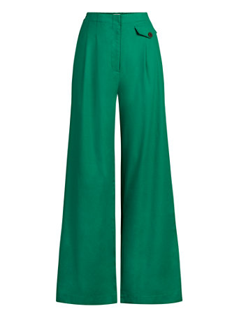 NY&Co Women's Ione Wide-Leg Pants - Eva Mendes Collection Vibrant Green