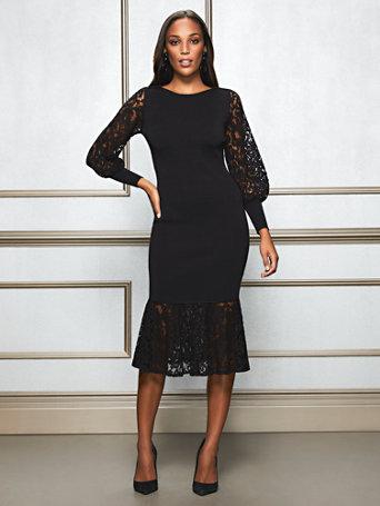 d7ecbb4adc0 NY C  Kamala Sweater Dress - Eva Mendes Collection