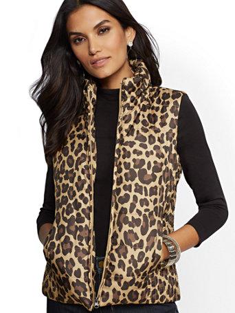 176ec5ec03614b NY C  Leopard-Print Puffer Vest