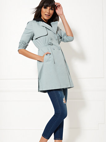 Light Blue Anorak Coat by New York & Company