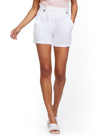 NY&Co Women's Linen Tab Short