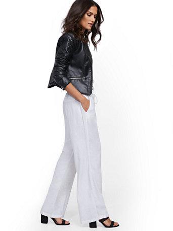 NY&Co Women's Linen Wide-Leg Pants