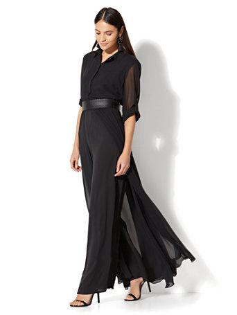 eb3945f2755c NY C  Long-Sleeve Jumpsuit - Black