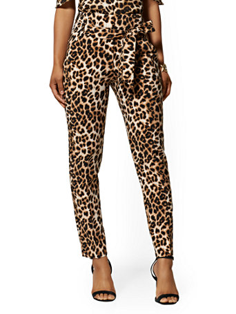 Madie Pant   Leopard Print   7th Avenue by New York & Company
