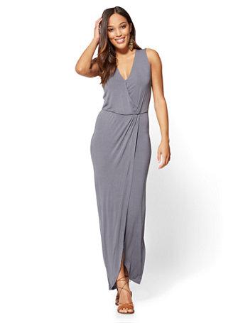 f24ab819afb NY C  Maxi Wrap Dress