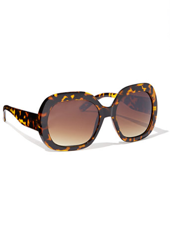 Oversized Round Sunglasses by New York & Company