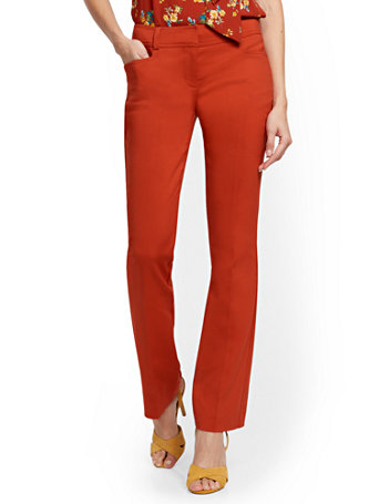 NY&Co Women's Petite Bootcut Pants - Signature - All-Season Stretch - 7th Avenue Stoplight Red
