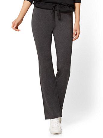 NY&Co Women's Petite Grey Bootcut Yoga Pants
