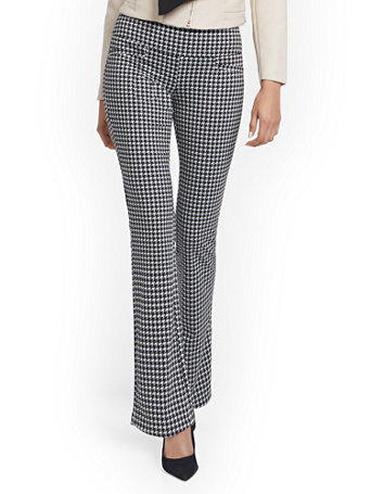 NY&Co Women's Houndstooth Pull-On Bootcut Ponte Knit Pants