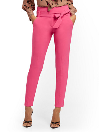 NY&Co Women's Petite Madie Pants - 7th Avenue Thoughtful Pink