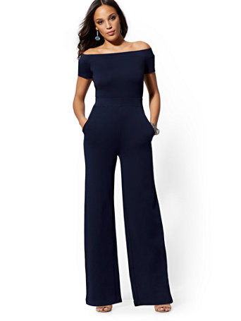 Petite Off The Shoulder Jumpsuit by New York & Company