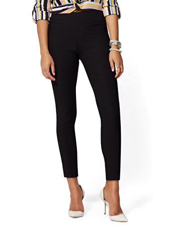 NY&Co Women's Petite Whitney High-Waisted Pull-On Ankle Pants