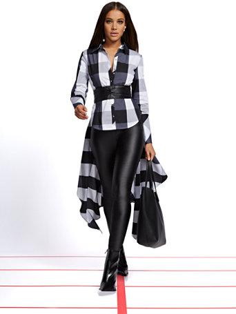 Plaid Hi Lo Shirt – 7th Avenue by New York & Company