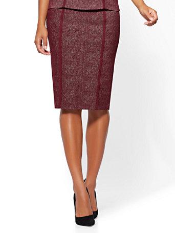 d7f788127 NY&C: Pull-On Pencil Skirt - Wine