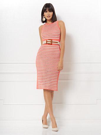 18e5979fd82 NY C  Ronda Stripe Sweater Dress - Eva Mendes Collection