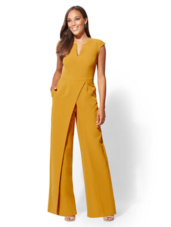 0a8c1b350366 NY C  Seamed Wrap Jumpsuit - 7th Avenue