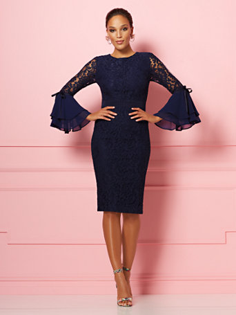 bef6eaa0cff NY C  Seraphina Lace Sheath Dress - Eva Mendes Party Collection