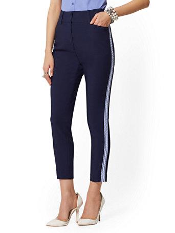 bb3406e325 Shoptagr | Side Stripe High Rise Ankle Pant All Season Stretch 7th ...