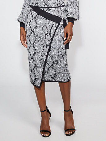 Snake Print Sweater Pencil Skirt   Gabrielle Union Collection by New York & Company